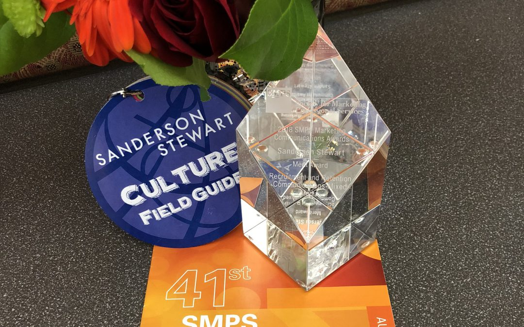 SANDERSON STEWART'S CULTURE CAMPAIGN RECEIVES SMPS MERIT AWARD
